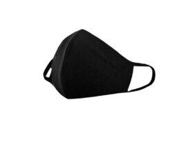 Máscara de Proteção Facial em Tecido Duplo - Preta